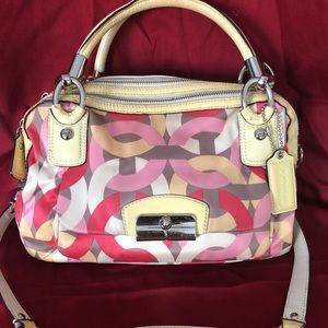 Coach shoulder bag with matching valet